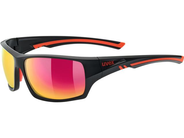 UVEX Sportstyle 222 Pola Gafas ciclismo, black matt red/mirror red